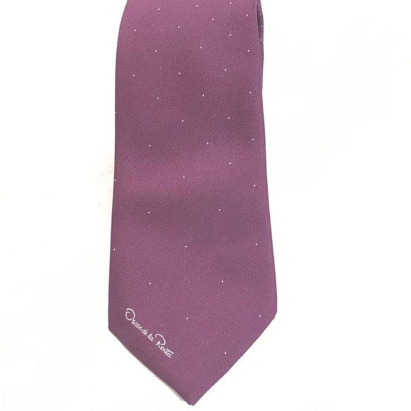 Oscar de la Renta Other - Oscar De La Renta Purple Silk Neckwear Tie